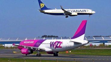 Літаки авікомпаній Wizzair та Ryanair